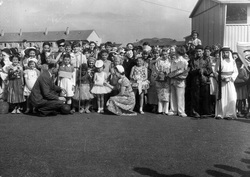 Children In Fancy Dress At Prefabs In Little France 1950s