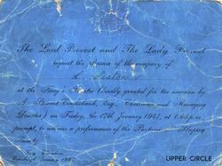 """King's Theatre Entrance Ticket To Performance Of """"Sleeping Beauty"""" 1947"""