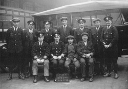 SMT (Scottish Motor Traction) Bus Depot Staff, February 1928