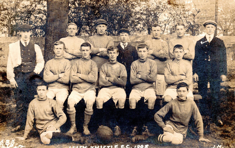 Leith Thistle Football Club Team 1908