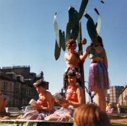 Hula Hula Float In Procession At Leith Pageant c.1968