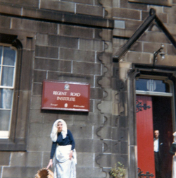 Participant In Leith Pageant Preparing For Procession At The Regent Road Institute c.1968