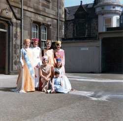 Participants In Leith Pageant Preparing For Procession At The Regent Road Institute c.1968