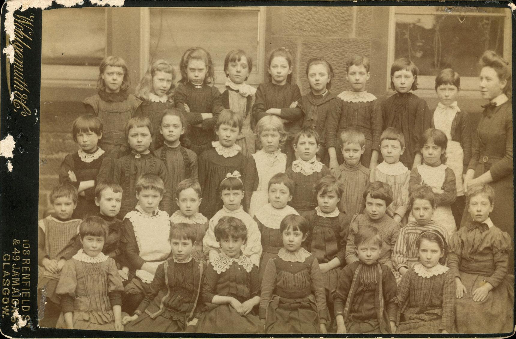 Unidentified School Class Portrait 1890s