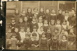 Unidentified School Class Portrait 1890s