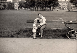 Father And Son At Bench On Leith Links c.1960