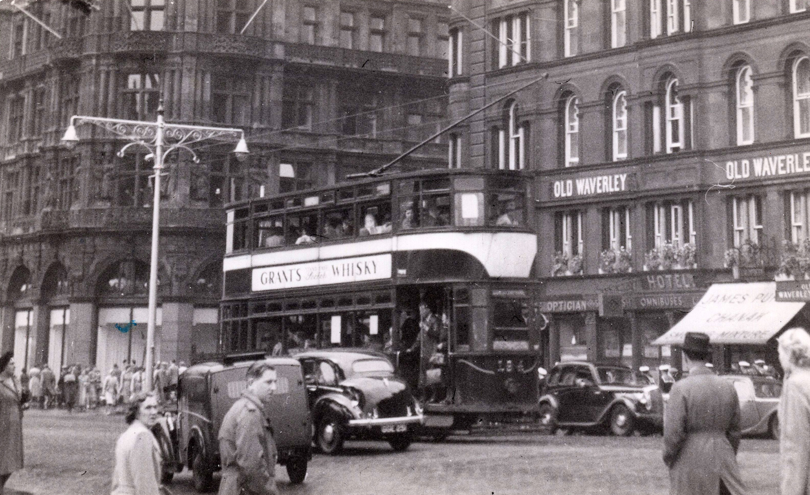 Tram At East End Of Princes Street 1956