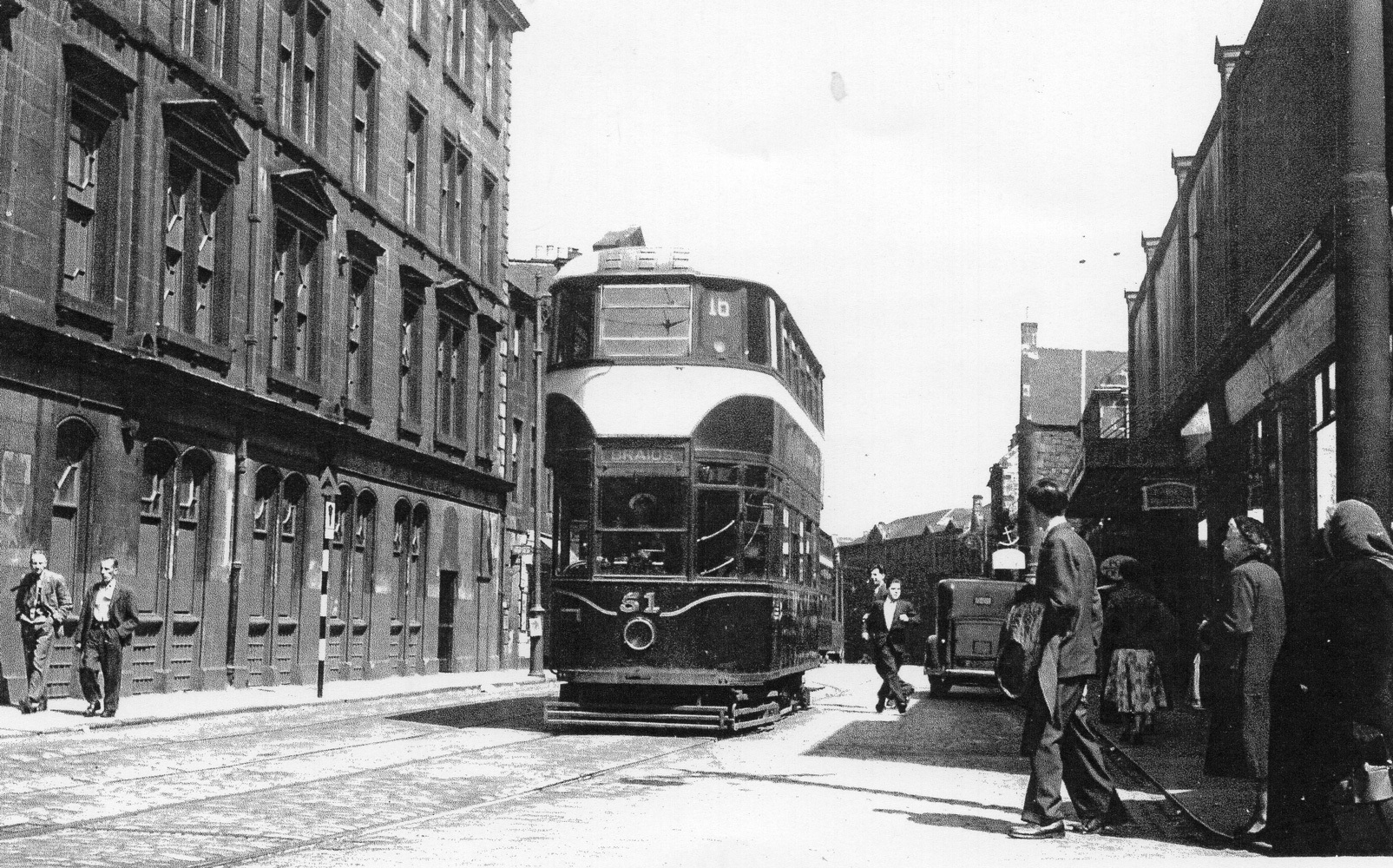 Tram On Constitution Street Near Foot Of Walk 1956