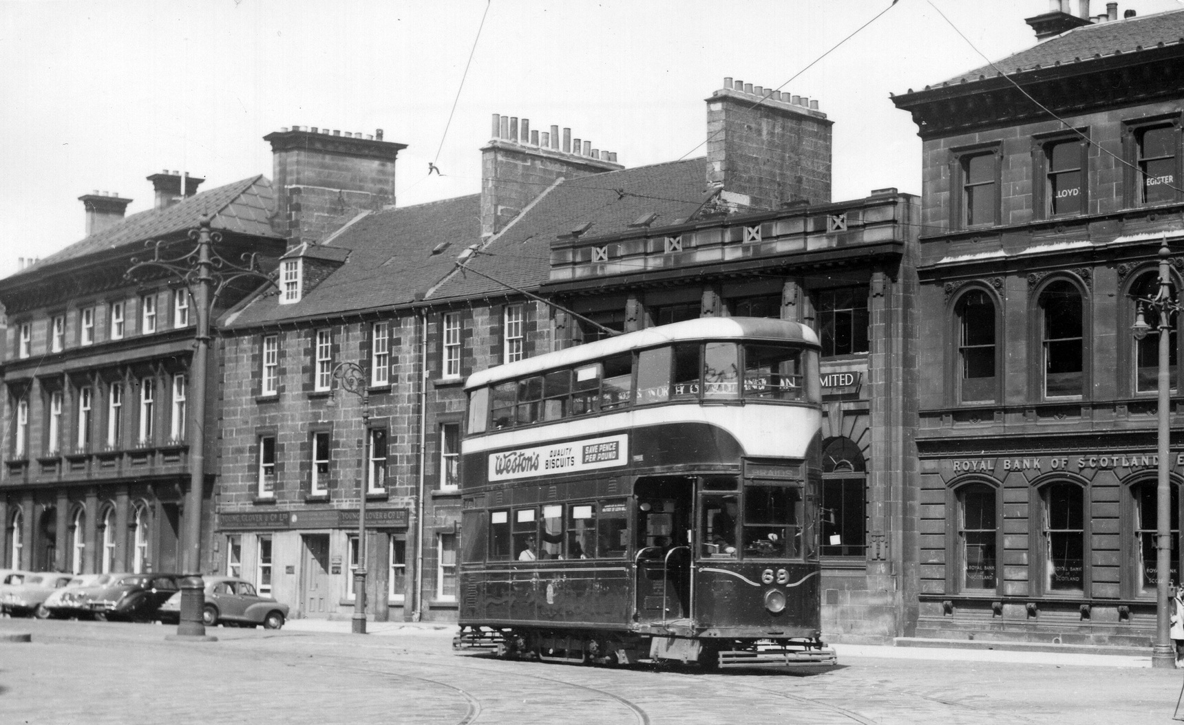 Tram On Bernard Street 1956