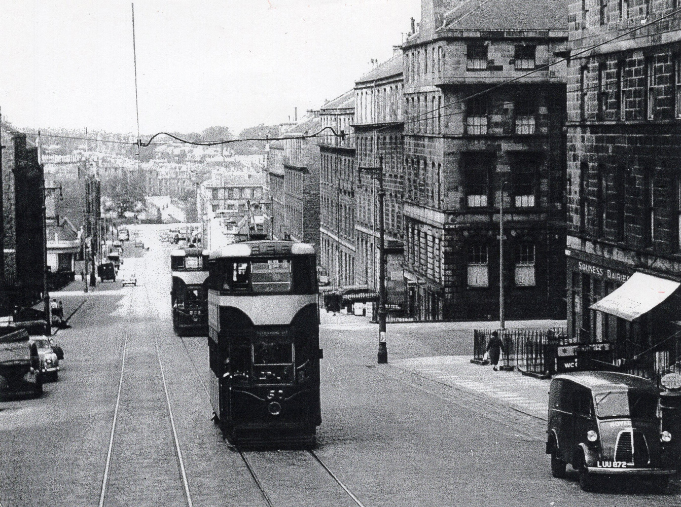Trams On The Former Pitt Street (Now Dundas Street) 1956