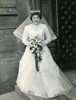 Bride On Her Wedding Day By Steps Of Church 1958