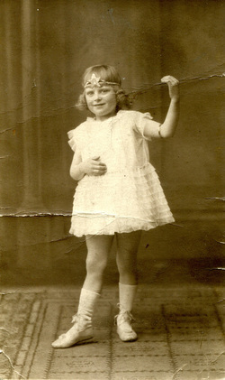 Studio Portrait Young Girl In Dancing Pose c.1927