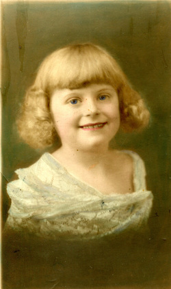 Studio Portrait Young Girl Colour Tint c.1926