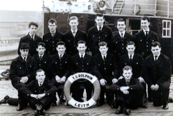 Cadets At The TS Dolphin Training Ship At Leith Docks c.1958