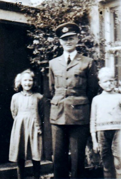 Man In BEA Uniform With His Two Children 1947