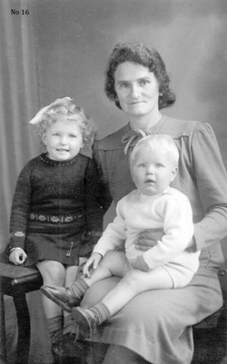 Studio Portrait Mother With Children c.1943