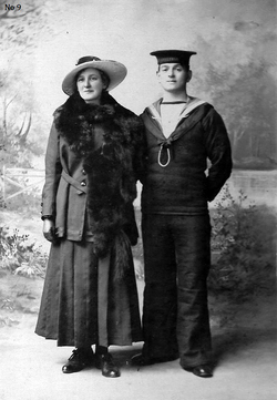 Studio Portrait Newly Wed Couple 1917