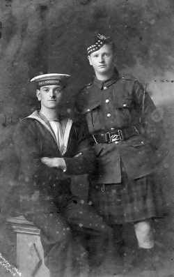 Studio Portrait Two Brothers In The Forces c.1916