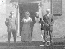 Two Men And Two Women Standing Outside Church c.1930