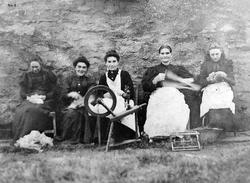 Teasing, Carding, Spinning, Hanking, Knitting c.1906