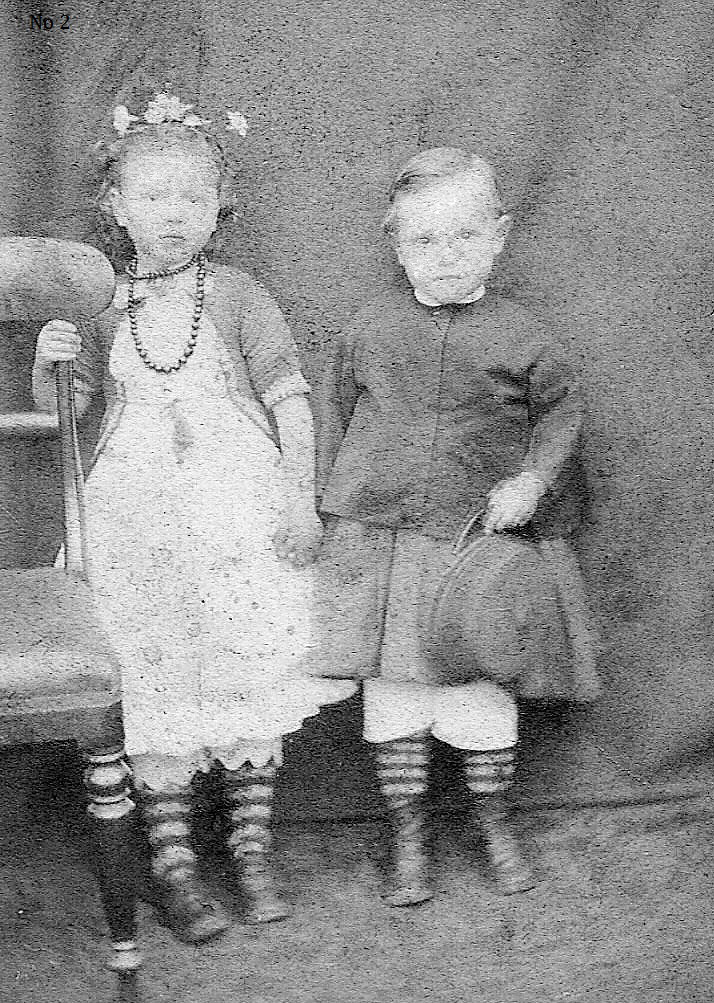 Young Shetland Brother And Sister c.1872