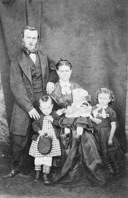 Victorian Shetland Family c.1872