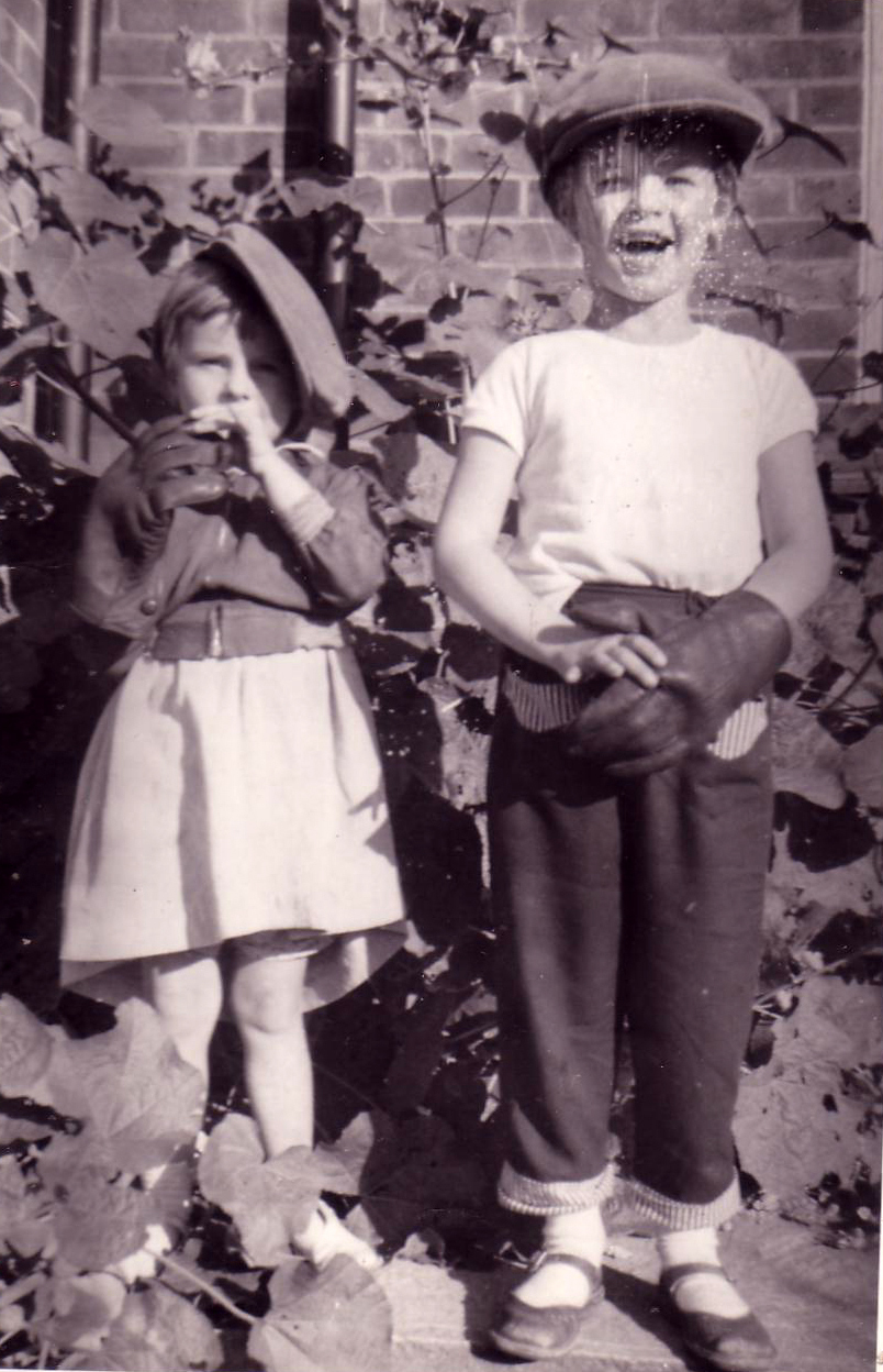 Boy And Girl In Garden Dressing Up 1950s