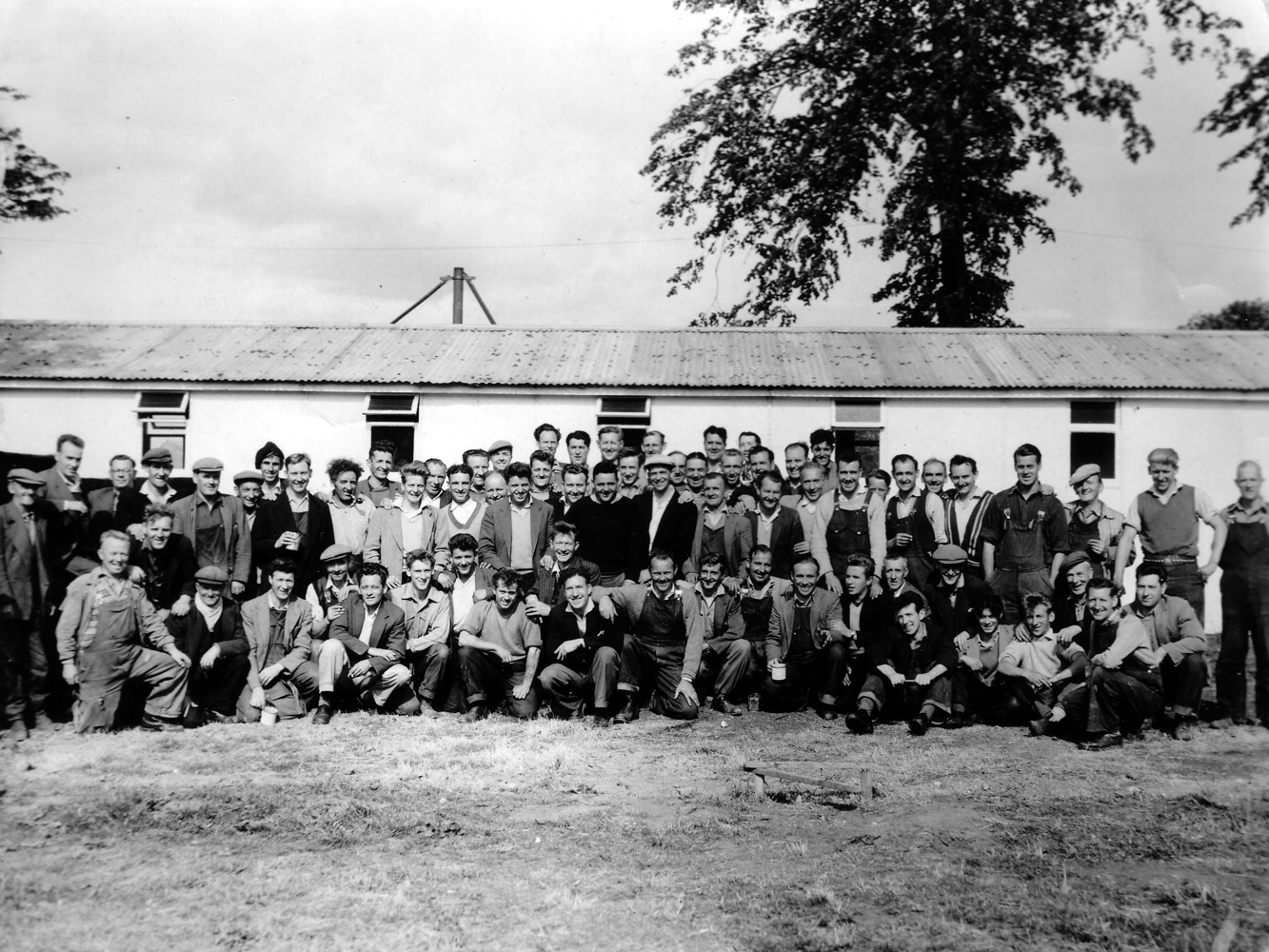 Large Group Of Workers Unknown Trades 1950s
