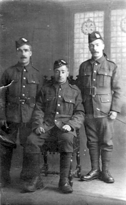 Studio Portrait Three Soldiers c.1916