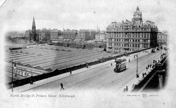 Postcard View Of North Bridge 1920s