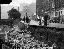 Fallen Railings On Dumbiedykes Road 1950s