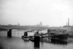 View Over Waterloo Bridge To St Paul's Cathedral 1950s