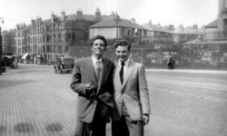 Two Young Men Standing On Rodney Street 1950s