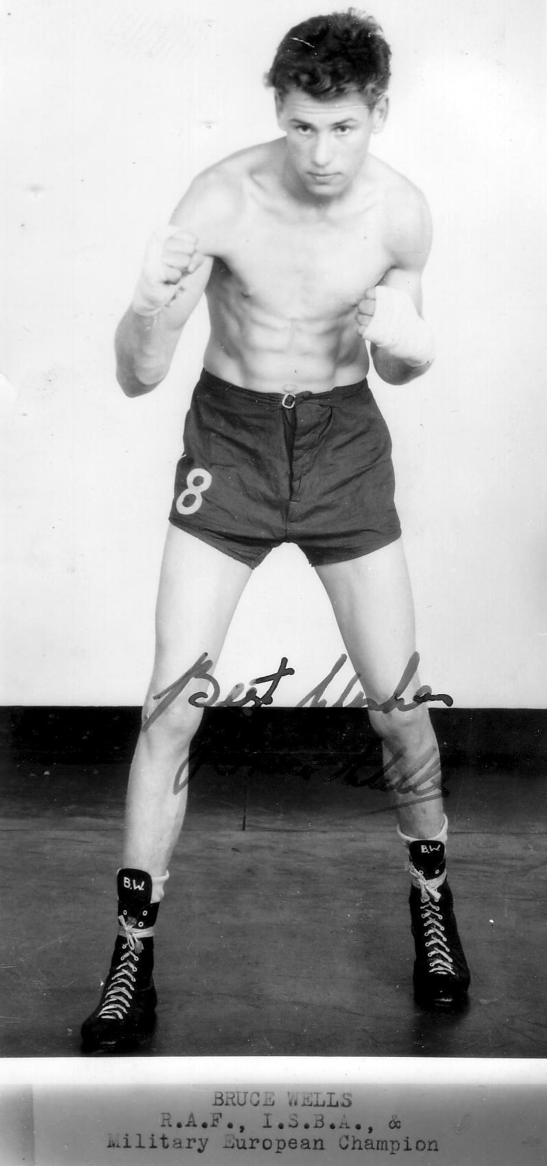 Amateur Boxer Bruce Wells 1950s