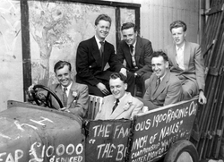 Young Men Larking About In Old Banger 1950s