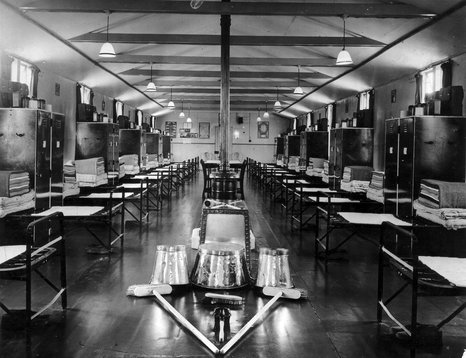 Barracks Cleaned And Ready For Inspection 1950s