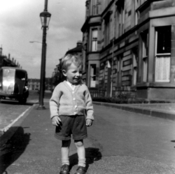 Young Boy Playing In The Street c.1950