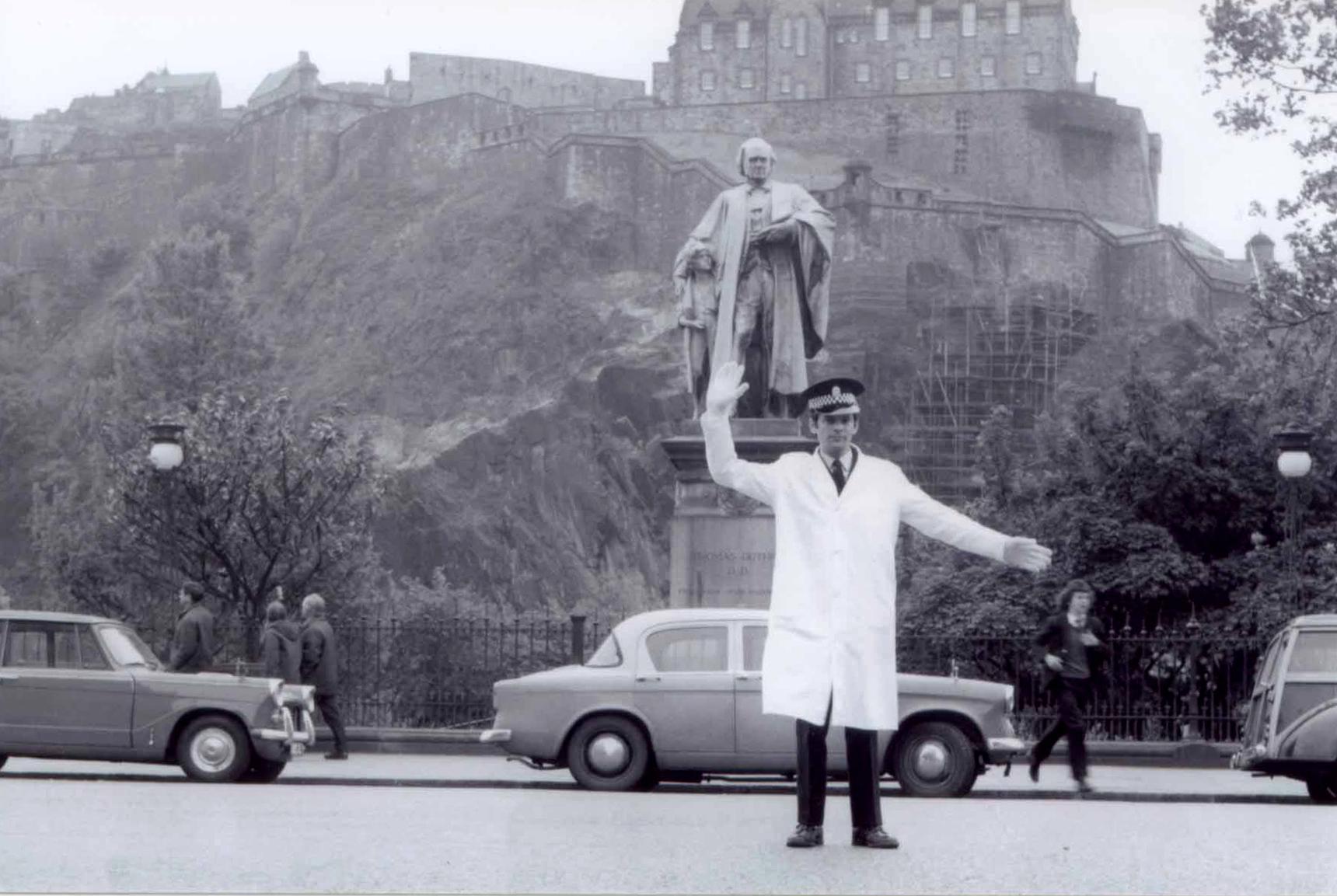 Traffic Cop On Duty On Princes Street c.1970