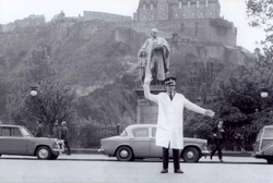 Traffic Cop On Duty On Princes Street c.1970