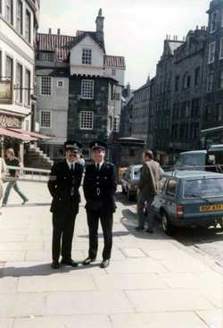 Two Police Officers On Duty At The Royal Mile c.1980