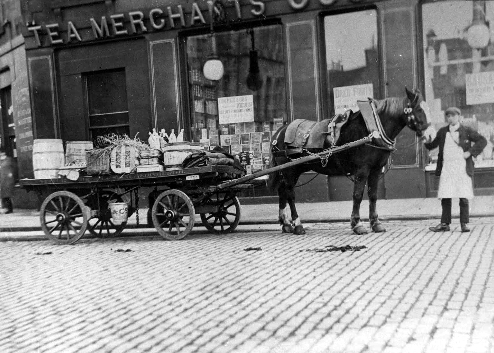 Delivery Horse And Cart Outside Cooper & Co. Tea Merchants 1900s