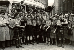 Newington Troop Edinburgh Boy Scouts Setting Off To Camp c.1950
