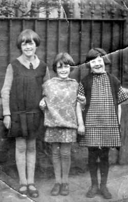 Three Girls Standing By Railings 1930s