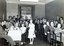 Large Gathering Unknown Celebration Dinner 1950s