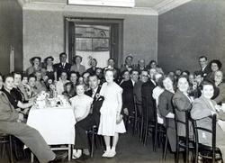 Large Gathering Unknown Celebration Dinner 1950s