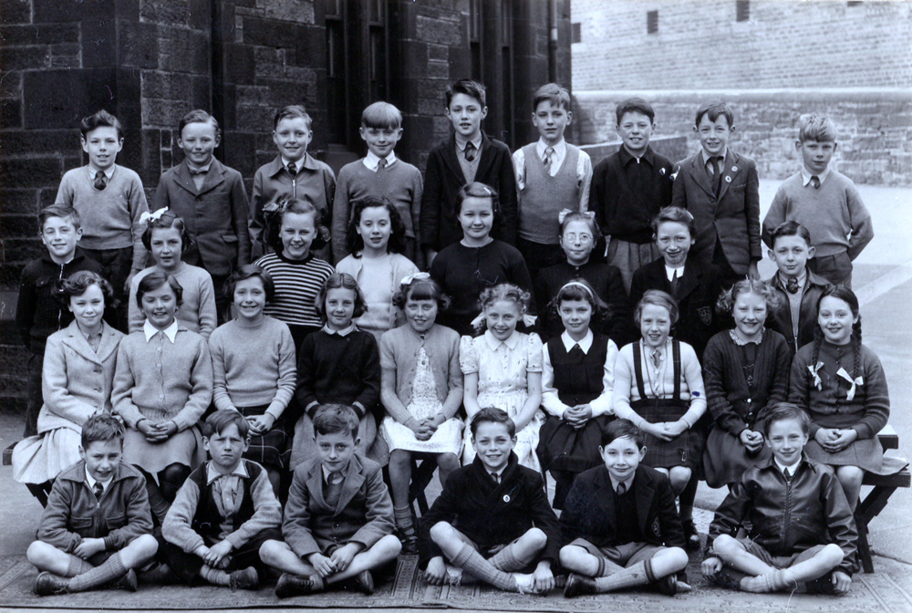 Unidentified School Class Portrait 1950s