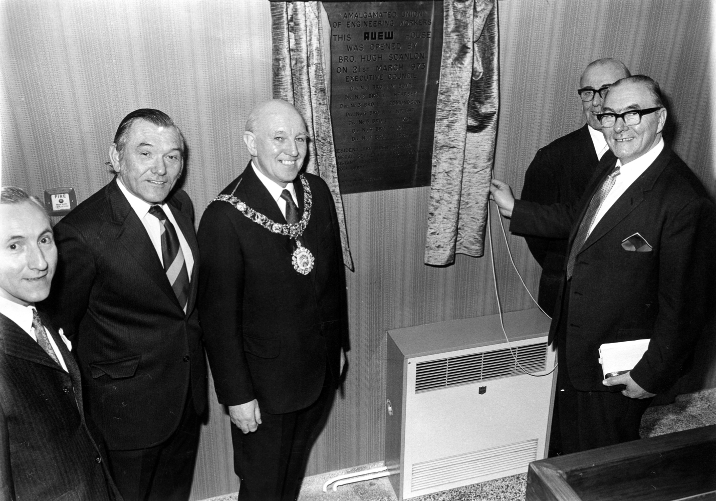 Opening Of An Amalgamated Union Of Engineering Workers House, 21 March 1973