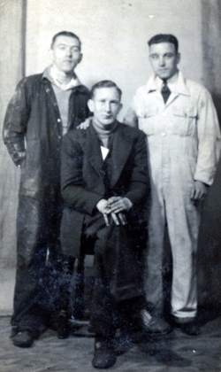 Portrait Three Workmen 1950s