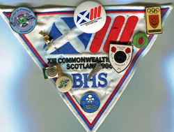 Badges Commemorating The 13th Commonwealth Games Held In Edinburgh 1986