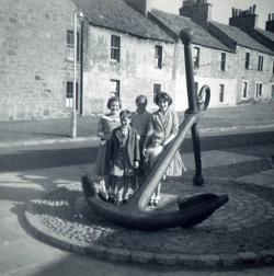Children Standing Round Old Anchor 1950s